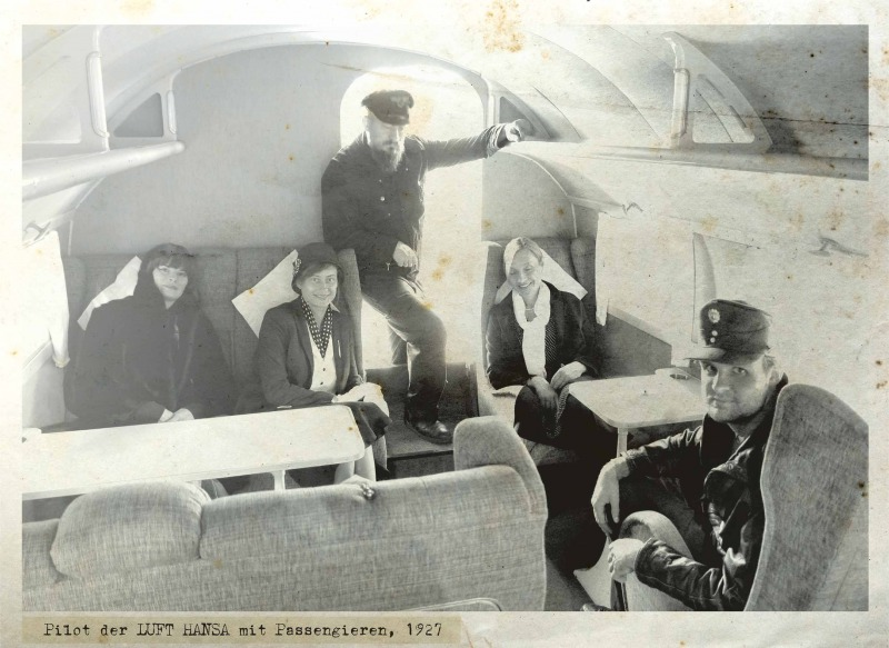Pilot of Luft Hansa with Passengers, 1927